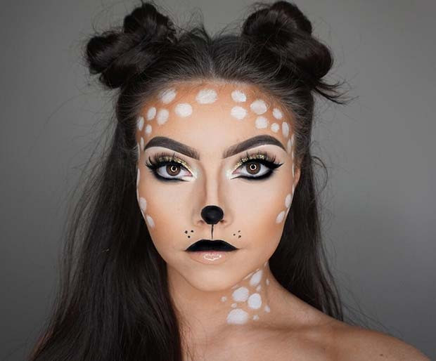 Nettes Rotwild-Halloween-Make-up