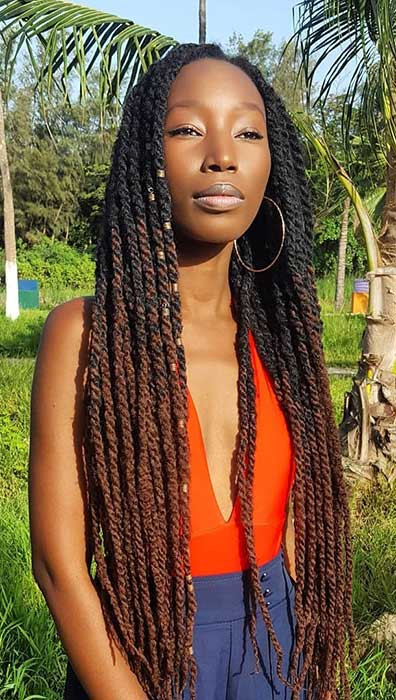 Lange Ombre Marley Twists
