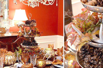 Wie man Thanksgiving Table Decorating macht