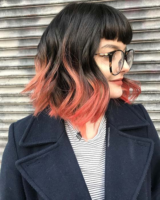 Bright Ombre Bob mit Pony