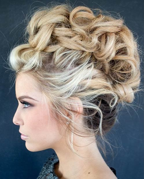 Curly & Messy Updo