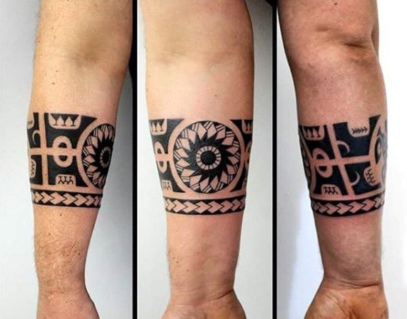Guy With Hawaiian Armband Tribal Tattoo Design