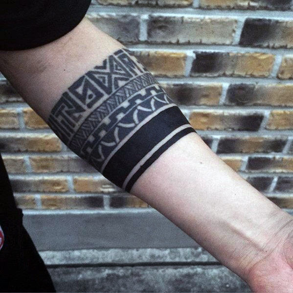 Blackwork Mit Pattern Guys Tribal Tattoos