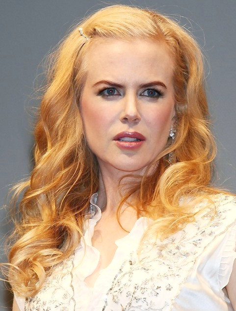 Nicole Kidman Lange Frisur: Locken für Picture Day
