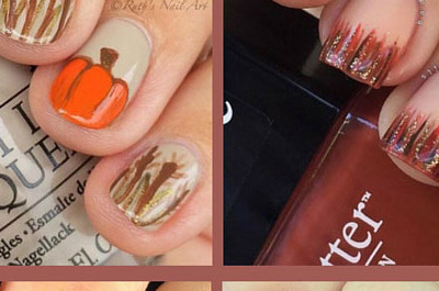 21 Erstaunliches Thanksgiving Nail Art Ideen