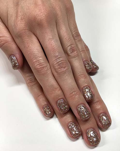 Gold Glitter Nägel